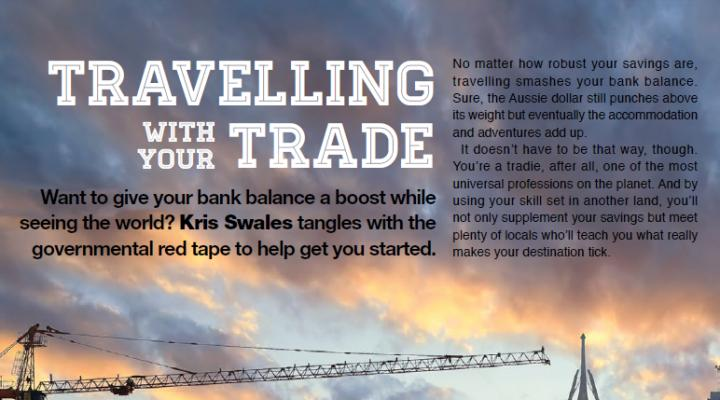 Travelling With Your Trade